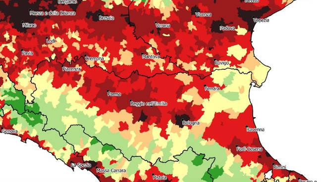 Mappa consumo suolo Ispra