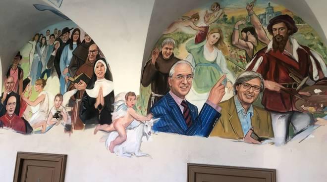Murales dedicato a Vittorio Sgarbi e altri piacentini
