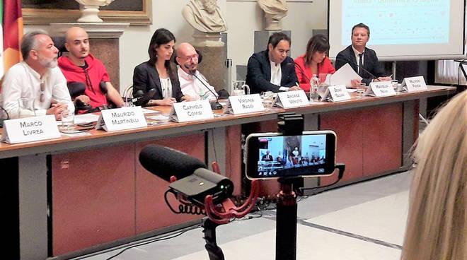 Nella foto Bruno Galvani, terzo da destra, in Campidoglio per la presentazione dell'iniziativa