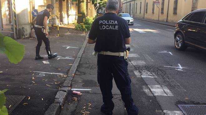 Polizia Municipale rilievi incidente