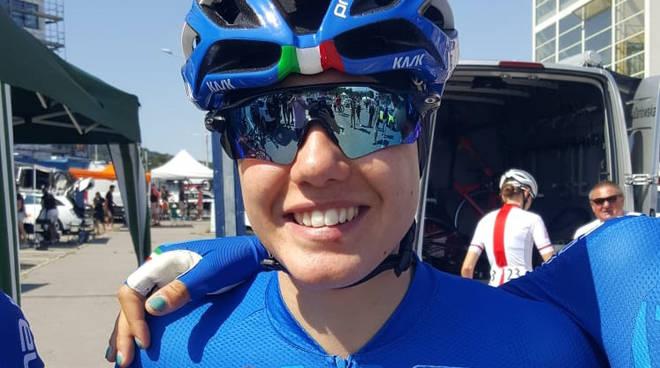 Silvia Zanardi in maglia azzurra (archivio FCI)