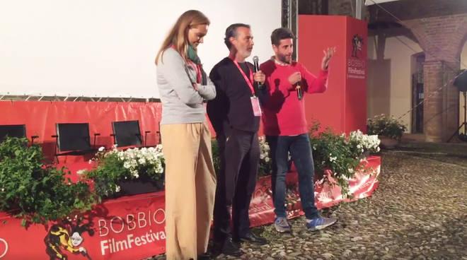 Anton Giulio Mancino, a destra, al Bobbio Festival