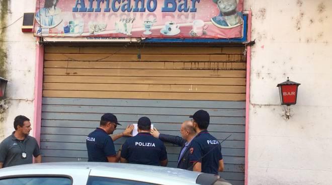 Bar chiuso in via Pozzo