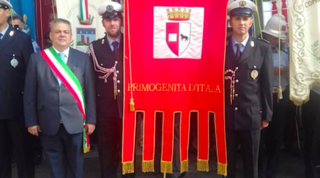 Il gonfalone di Piacenza alla cerimonia a Bologna