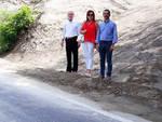Il sopralluogo dei lavori sulla provinciale a Gropparello