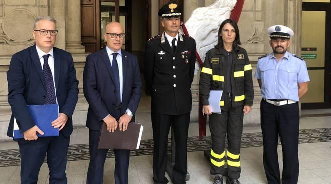 L'incontro con le forze dell'ordine sulla sicurezza degli eventi