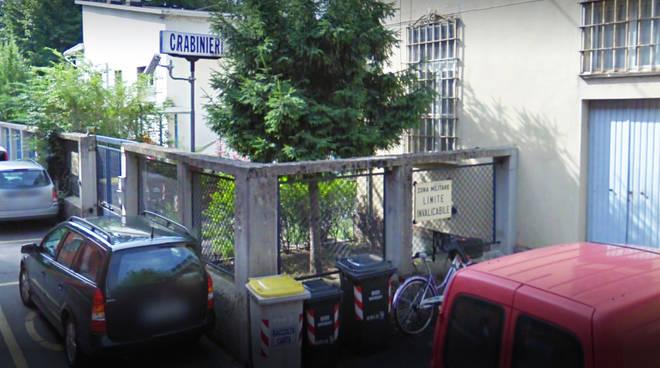 La caserma dei carabinieri a Pontedellolio