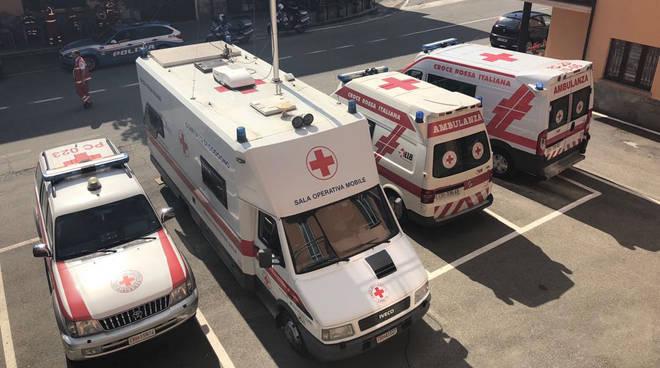 Mezzi della Croce Rossa