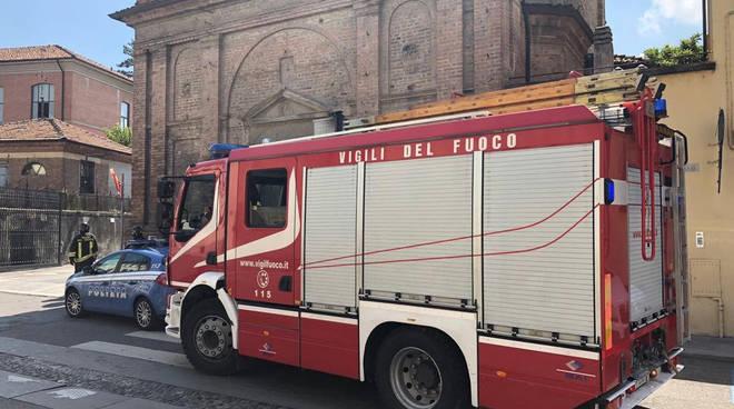 Vigili del fuoco e polizia
