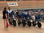Zanardi e Colinelli ciclismo su pista