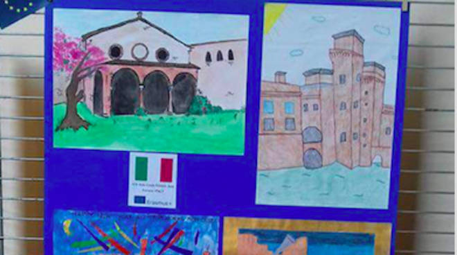Alcune delle opere realizzate dai giovani studenti