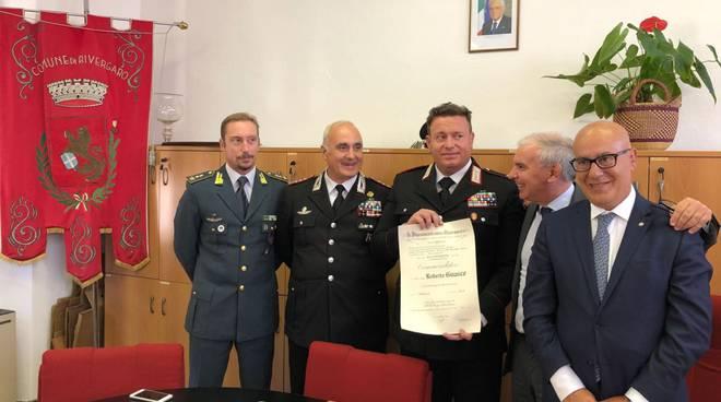 Consegna onorificenza maresciallo Guasco
