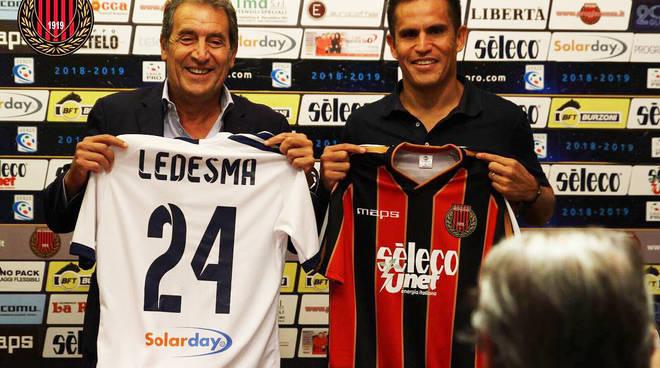 Cristian Ledesma con la nuova maglia del Pro