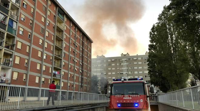 incendio garage via Radini Tedeschi