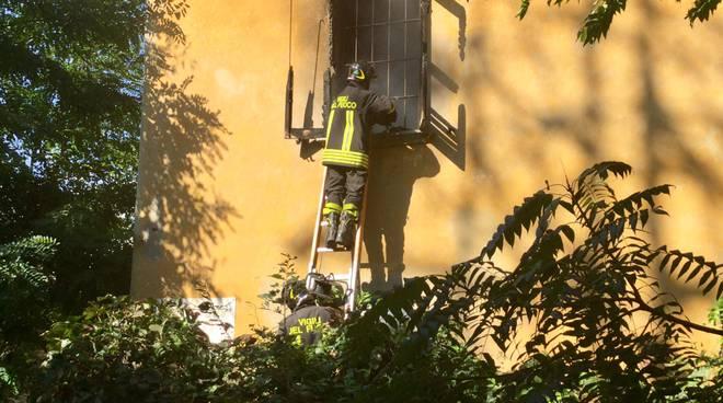 Incendio via Nino Bixio