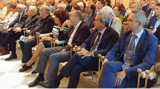 L'incontro con don Callegari a Palazzo Galli