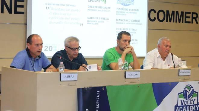 La presentazione della Volley academy