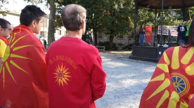 la protesta dei Macedoni