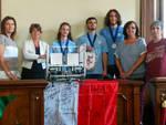 La squadra di robotica del Respighi in Municipio