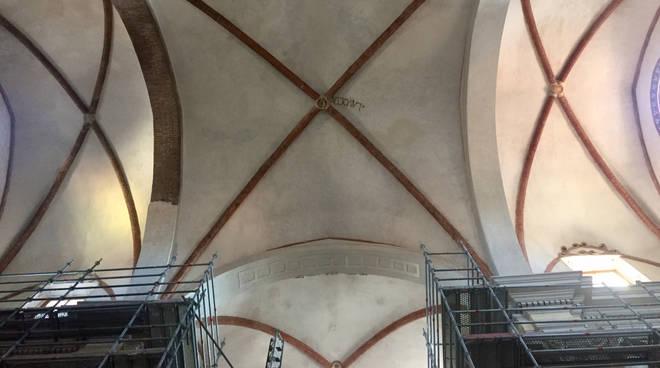 La visita al cantiere all'ex Chiesa del Carmine