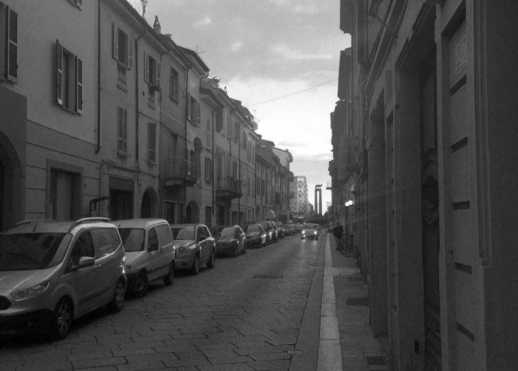 via Roma black and white