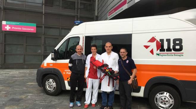 Donazione del Baraccaluga all'ospedale di Fiorenzuola