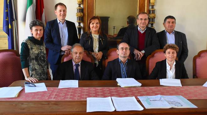 """I sindaci dei comuni coinvolti nel progetto """"Francigena in comune"""""""