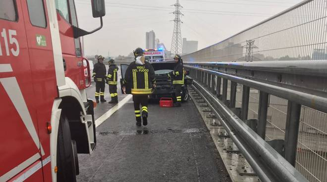 incidente A21 pioggia