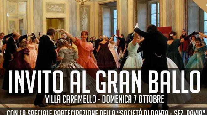 Invito al ballo a Villa Caramello