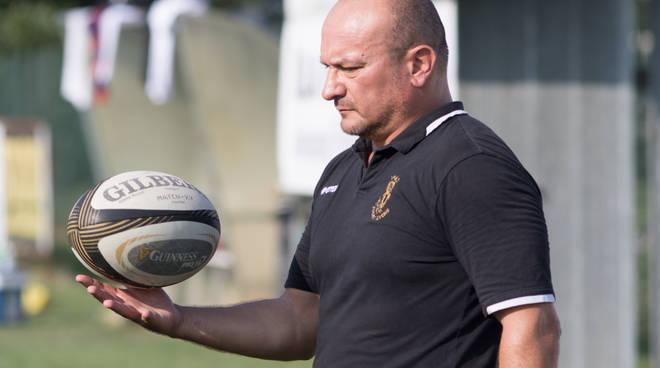 l'allenatore della Sitav Rugby Lyons Emanuele Solari