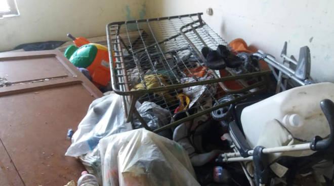 L'immobile sgomberato a Fiorenzuola