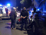 L'incidente che ha coinvolto la ciclista in via Poggi