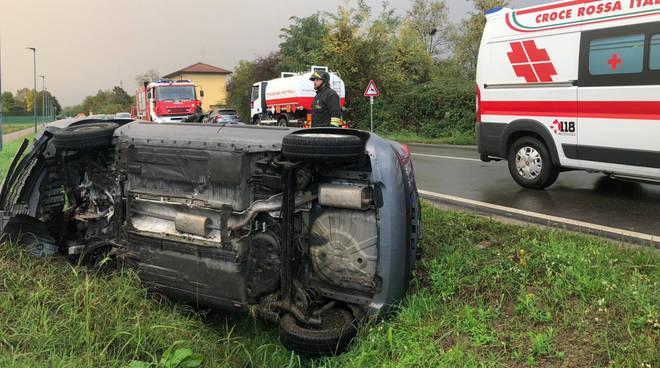 L'incidente lungo Strada Agazzana
