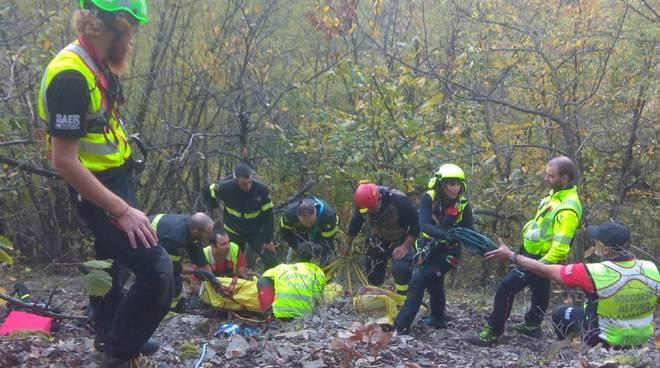 L'intervento dei soccorritori a Coli