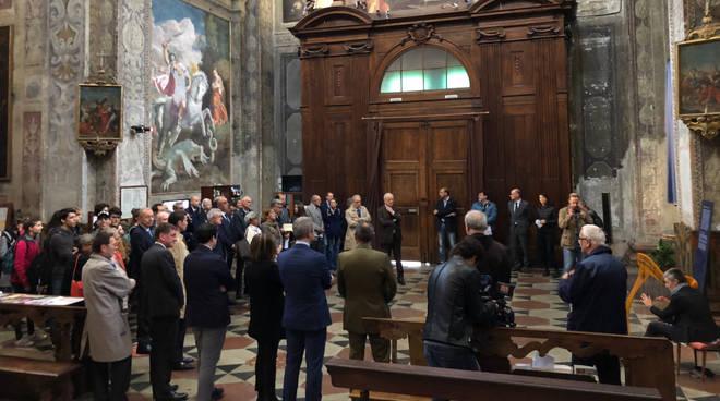 La presentazione del dipinto di Sant'Agostino