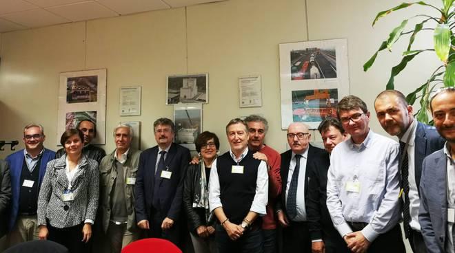 La visita della commissione alla centrale di Caorso