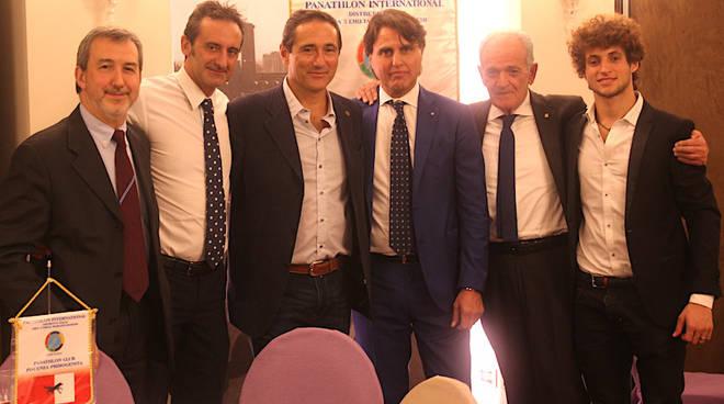 Nella foto, da sinistra, Polidoro, Bossalini, Sandro Cuomo, Giuseppe Rossano, Ballani e Valerio Cuomo