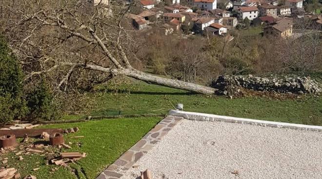 Raffiche di vento a Casone di Bobbio