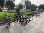 rastrelliere per le bici in piazzale Marconi