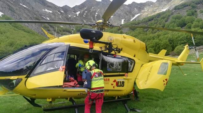 Soccorso Alpino in elicottero