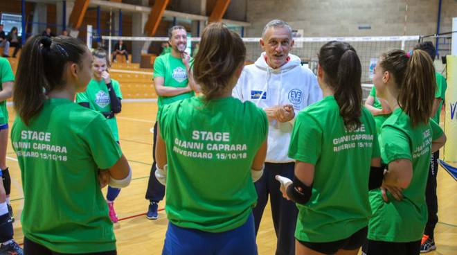 stageconGiovanni Caprara per Volley Academy Piacenza