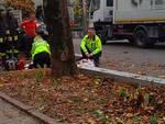 I soccorsi sul luogo del tragico infortunio a Borgonovo
