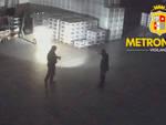 Il sopralluogo al magazzino delle guardie giurate di Metronotte Piacenza