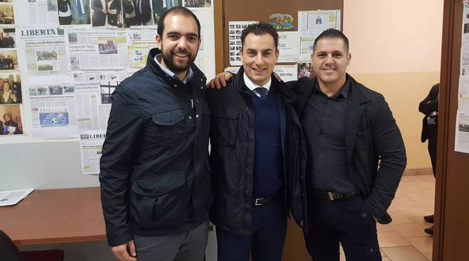 Il sottosegretario Morrone, al centro, insieme a Rancan e Narducci