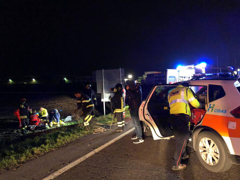 incidente ciclista a Pontenure