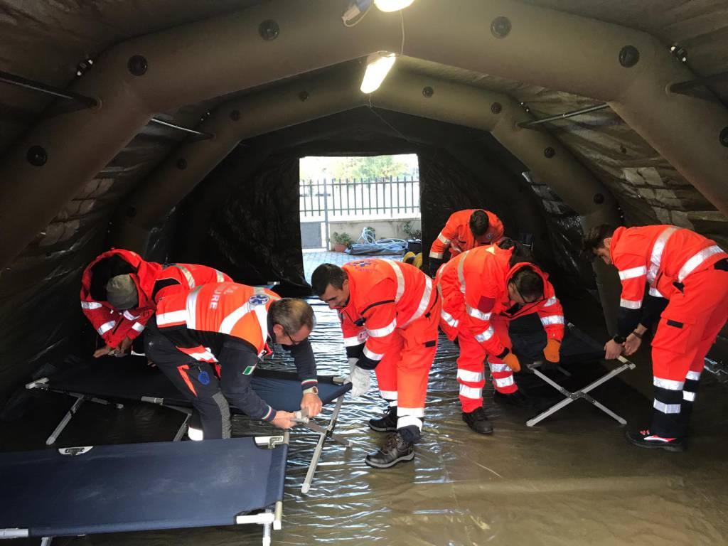 L'esercitazione sul Nure in caso di alluvione