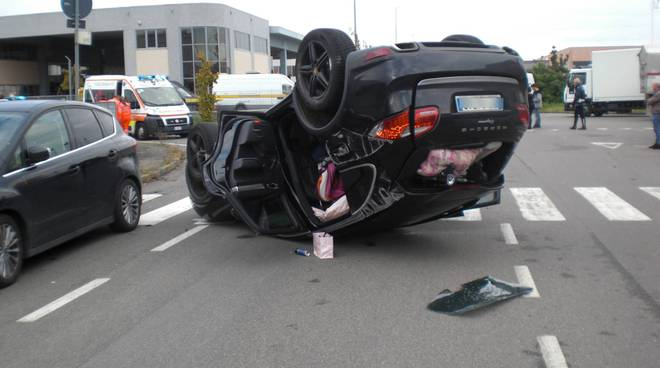 L'incidente in via Orsi alla Caorsana
