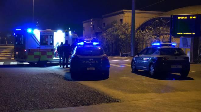 Aggressione via dei Pisoni polizia
