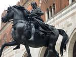 I cavalli del Mochi in Piazza Cavalli