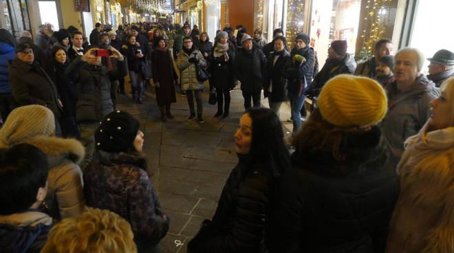 I flash mob lirici in centro